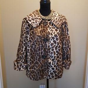 Chaus faux fur leopard print coat